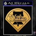 Phillies Decal Sticker Philadelphia Intricate Gold Vinyl 120x120