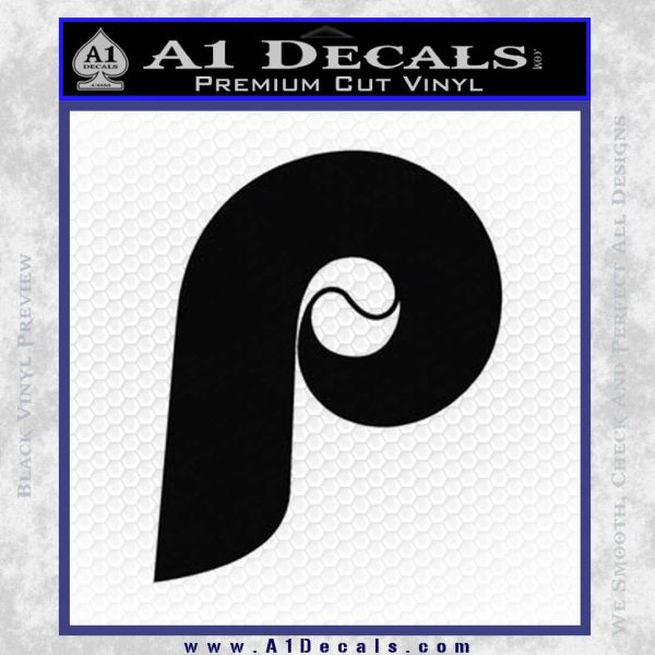 Phillies decal sticker philadelphia retro black vinyl