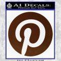 Pinterest Customizable Decal Sticker BROWN Vinyl 120x120