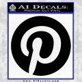 Pinterest Customizable Decal Sticker Black Vinyl 120x120