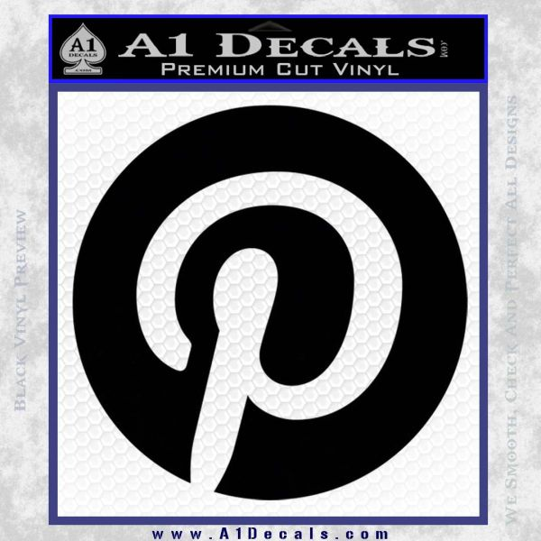 Pinterest Customizable Decal Sticker Black Vinyl