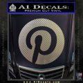 Pinterest Customizable Decal Sticker Carbon FIber Chrome Vinyl 120x120
