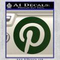 Pinterest Customizable Decal Sticker Dark Green Vinyl 120x120