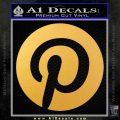 Pinterest Customizable Decal Sticker Gold Vinyl 120x120
