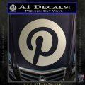 Pinterest Customizable Decal Sticker Metallic Silver Emblem 120x120