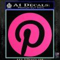 Pinterest Customizable Decal Sticker Pink Hot Vinyl 120x120