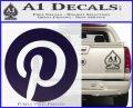 Pinterest Customizable Decal Sticker PurpleEmblem Logo 120x97