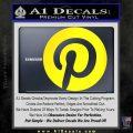 Pinterest Customizable Decal Sticker Yellow Laptop 120x120