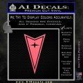 Pontiac Arrow Decal Sticker Pink Emblem 120x120