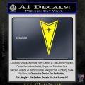 Pontiac Arrow Decal Sticker Yellow Laptop 120x120