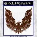 Pontiac Firebird Decal Sticker ALT 1977 BROWN Vinyl 120x120