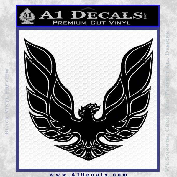 Pontiac Firebird Decal Sticker ALT 1977 Black Vinyl