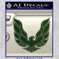 Pontiac Firebird Decal Sticker ALT 1977 Dark Green Vinyl 120x120