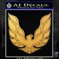 Pontiac Firebird Decal Sticker ALT 1977 Gold Vinyl 120x120