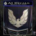 Pontiac Firebird Decal Sticker ALT 1977 Metallic Silver Emblem 120x120