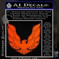 Pontiac Firebird Decal Sticker ALT 1977 Orange Emblem 120x120