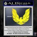 Pontiac Firebird Decal Sticker ALT 1977 Yellow Laptop 120x120