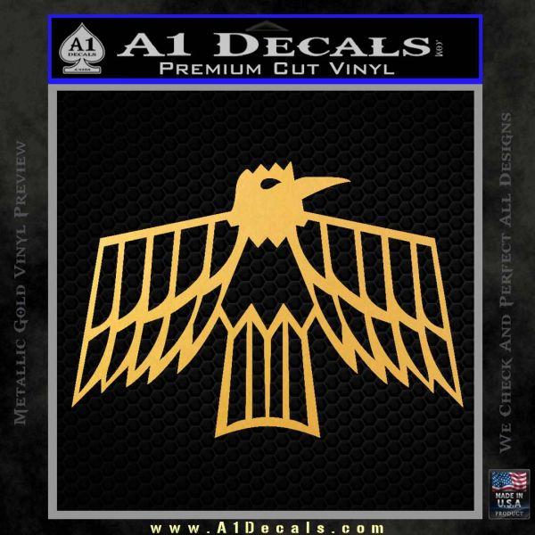 Pontiac Firebird Decal Sticker Retro Gold Vinyl