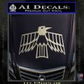 Pontiac Firebird Decal Sticker Retro Metallic Silver Emblem 120x120