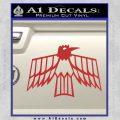 Pontiac Firebird Decal Sticker Retro Red 120x120