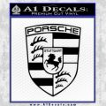 Porsche Decal Sticker Black Vinyl 120x120