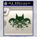 Powerpuff Girls Justice League Final Decal Sticker Dark Green Vinyl 120x120