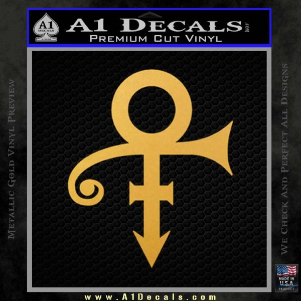 Prince decal sticker the artist formerly known as gold vinyl
