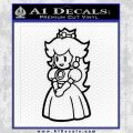 Princess Peach Decal Sticker Nintendo Black Vinyl 120x120