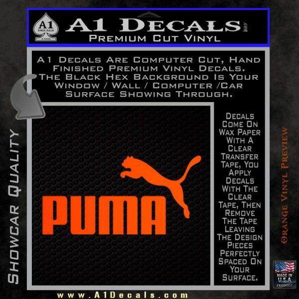 Puma Decal Sticker 187 A1 Decals