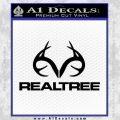 Realtree Antlers Decal Sticker Black Vinyl 120x120