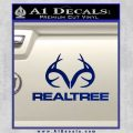 Realtree Antlers Decal Sticker Blue Vinyl 120x120
