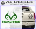 Realtree Antlers Decal Sticker Green Vinyl Logo 120x97