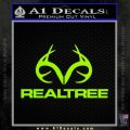 Realtree Antlers Decal Sticker Lime Green Vinyl 120x120