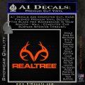 Realtree Antlers Decal Sticker Orange Emblem 120x120