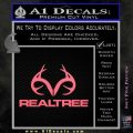 Realtree Antlers Decal Sticker Pink Emblem 120x120