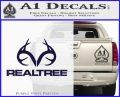 Realtree Antlers Decal Sticker PurpleEmblem Logo 120x97