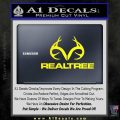 Realtree Antlers Decal Sticker Yellow Laptop 120x120