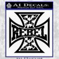 Rebel Iron Cross Confederate Decal Sticker Black Vinyl 120x120