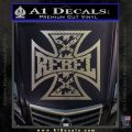 Rebel Iron Cross Confederate Decal Sticker Carbon FIber Chrome Vinyl 120x120