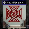 Rebel Iron Cross Confederate Decal Sticker DRD Vinyl 120x120
