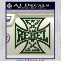 Rebel Iron Cross Confederate Decal Sticker Dark Green Vinyl 120x120