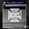 Rebel Iron Cross Confederate Decal Sticker Gloss White Vinyl 120x120