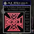 Rebel Iron Cross Confederate Decal Sticker Pink Emblem 120x120