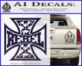 Rebel Iron Cross Confederate Decal Sticker PurpleEmblem Logo 120x97