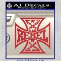 Rebel Iron Cross Confederate Decal Sticker Red 120x120
