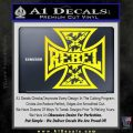 Rebel Iron Cross Confederate Decal Sticker Yellow Laptop 120x120