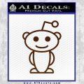 Reddit Alien D1 Decal Sticker BROWN Vinyl 120x120