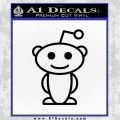 Reddit Alien D1 Decal Sticker Black Vinyl 120x120