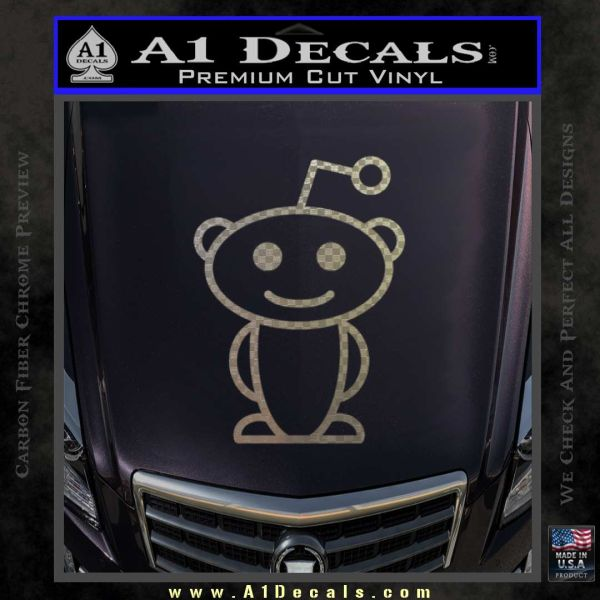 Reddit alien d1 decal sticker carbon fiber chrome vinyl 120x120