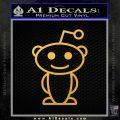 Reddit Alien D1 Decal Sticker Gold Vinyl 120x120